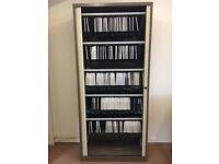 Bisley Tower storage cabinet with hanging files, sliding shutter doors