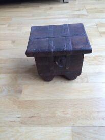 Hand made real wood box.