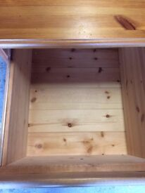 Solid Pine 2 Drawer Unit