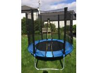 4foot diameter Wer Sports Trampoline with enclosure and cover. Including full instructions.