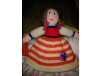 Beautiful hand knitted topsy turvy doll
