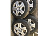 """17"""" steel alloys with trims inc 2 michelin tyres"""