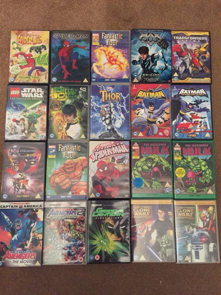 20 Super hero DVDs