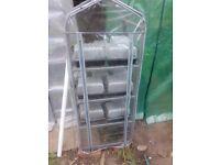 4 shelf mini plastic greenhouse