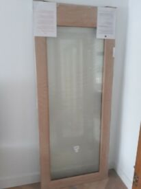 "Solid oak external door pattern 10 glazed. 78""x33"" brand new"