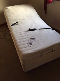 Adjustable Single Bed with memory foam mattress