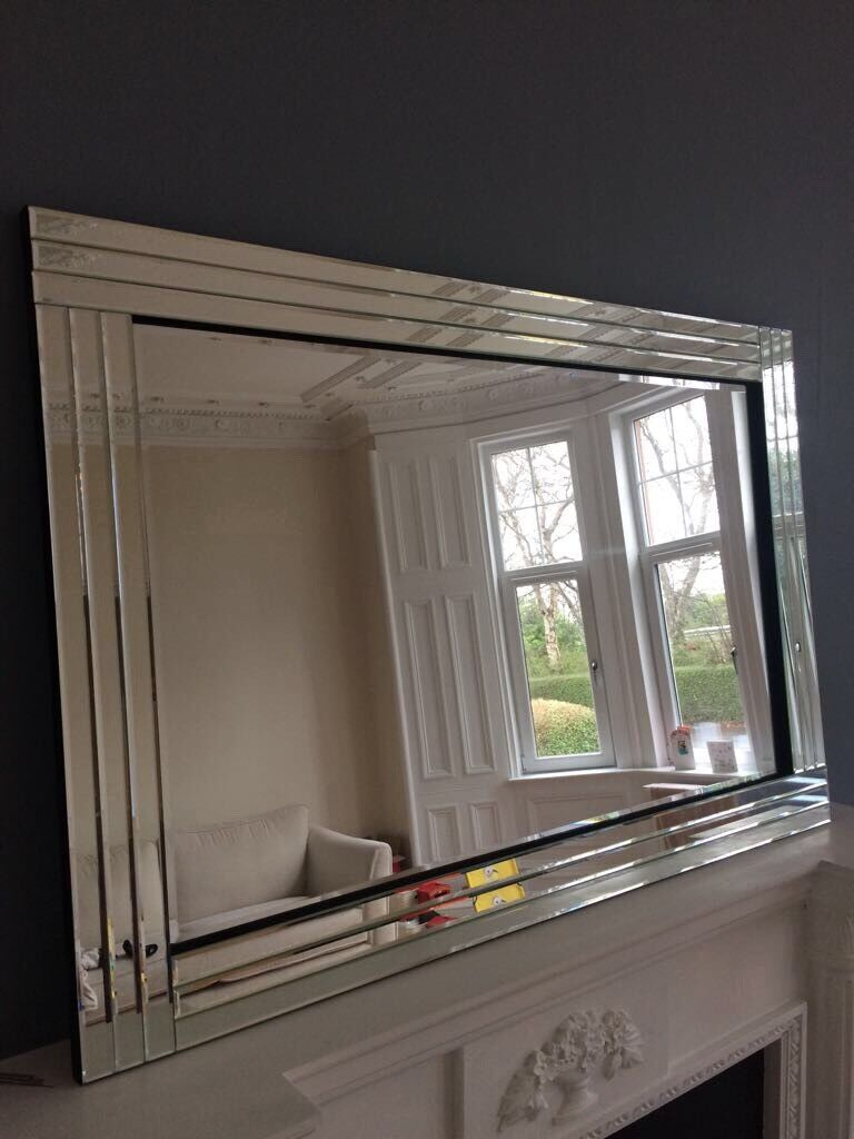 Large Laura Ashley Style Decorative Mirror In Burnside