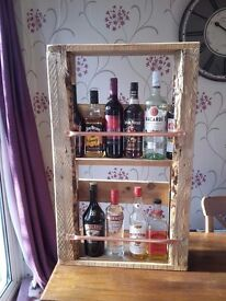 Upcycled wall mounted drinks cabinet