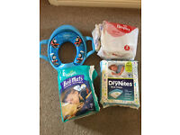 Toilet Training -- Thomas the Tank Engine Comfi Trainer Seat, bed mats, easy up pants