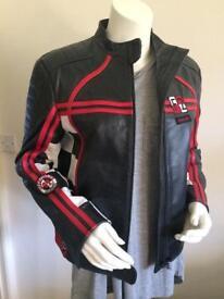 Lady's biker 'style' leather jacket, size 12