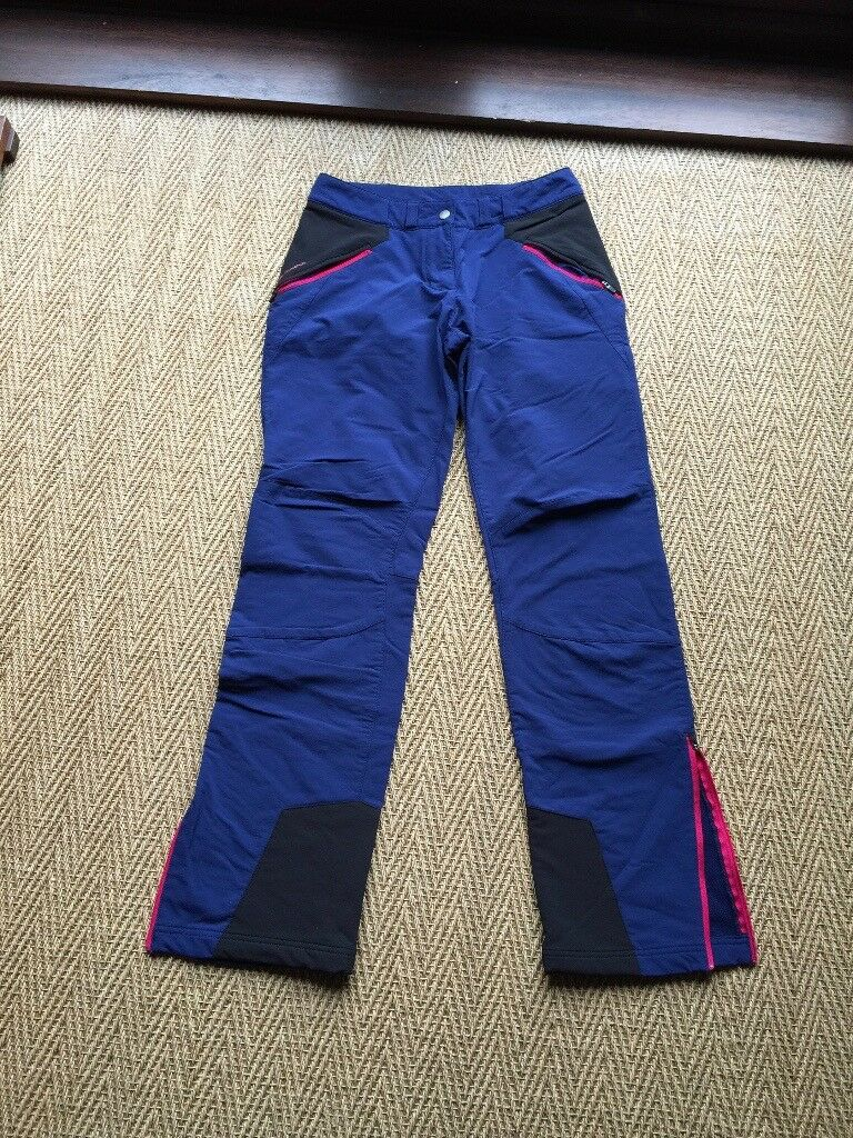 WARM, LINED, WIND RESISTANT, TECHNICAL WALKING TROUSERS - SIZE 10