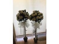 Decorative Rose Bushes - Wedding Decoration