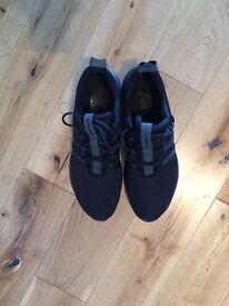 Black adidas trainers 9.5