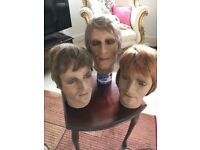 Vintage male mannequin heads