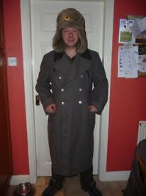 military trench coat, russian