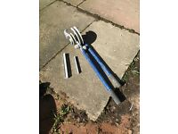 Pipe bender. In good condition with the bits. 22mm and 15 mm.