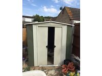 Metal shed 8 foot by 6 foot