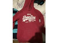 Superdry women's red hoodie