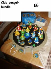 club penguin bundle, cards, figures and medals £6 collection from didcot