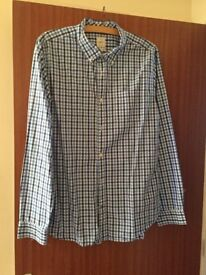 Mans GAP blue check shirt - size Large