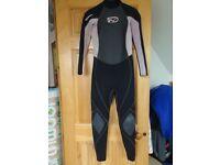 Girls Gul Axis Duraflex 3:2 summer wetsuit size JXL chest 78 cm
