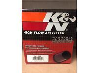 "NEW! K&N RU-2520. 4"" universal air filter"