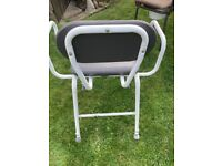 Disability Height Adjustable Perching Stool /Chair with arm rests