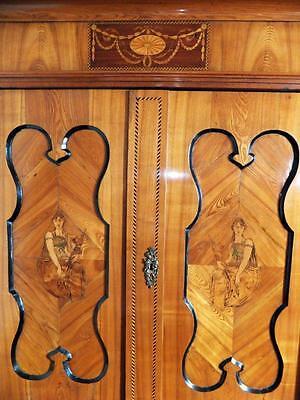 Barocco Intarsio Armadio Intarsiato Hallenschrank Baroque Hall Armadio 17 18