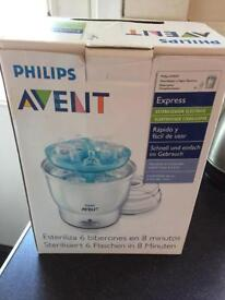 Avent electric steriliser with tablets, boxed