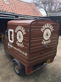 Piaggio ape, mobile coffee business, coffee unit