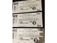 Carfest weekend tickets WITH camping (2 x adult, 1 x child)