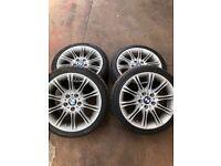 """BMW Alloy Wheels 18"""" (Star Spoke) X 4 with Quality Tyres"""