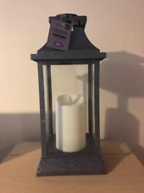 Brand new large grey glittery lantern