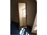 Freestanding mirror wooden frame