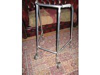 Polished Aluminium Medium Size Wheeled Zimmer Walking Frame