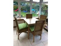 Small wooden dining table and 4 chairs