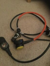 Oceanic Alpha Regulators, CDV 1st stage and Suunto Triple console with spares