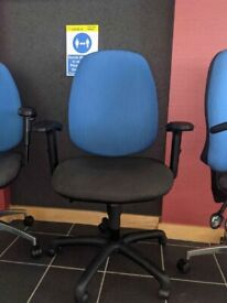 FREE SAME DAY DELIVERY - Fabric Office Chair With Lumbar Support And Adjustable Arms