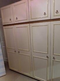 TRIPLE BEDRROM UNIT : 2 X DOUBLE WARDROBE 1 X DRESSING TABLE UNIT AND TOP BOXES