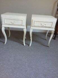 Shabby Chic Cream French Style Bedside tables