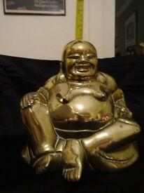 Buddah large brass laughing