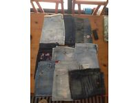 JEAN SKIRTS 10 jean skirts sizes 12 & 14. Some detailed