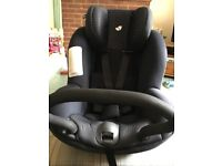 Joie ISO fix car seat with 2 ISO fix bases, birth to approx 4 years
