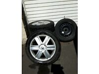 Renault Megane Clio Scenic 16inch Alloy Wheels 205/55/16 4 alloy + 1 spare