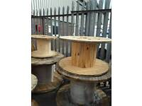 Wooden cable drums small for up cycle 600mm 700mm 800mm