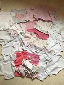 Newborn / First Size Baby Girl Clothes Bundle
