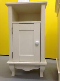 ASPACE Single white Designer bedside cabinet cupboard table Laura Ashley habitat loaf oka John Lewis