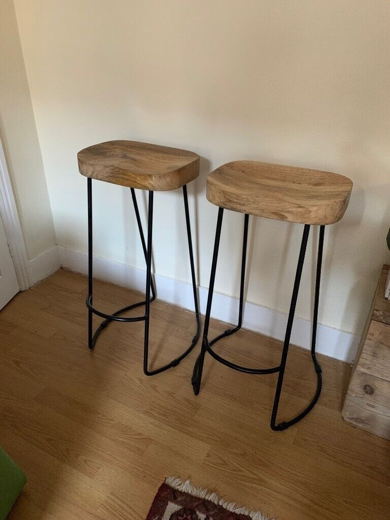 Picture of: 2x Industrial Style Bar Stools In East London London Gumtree