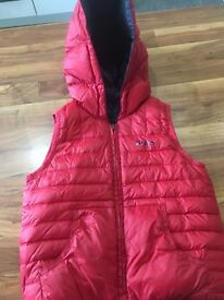 Boys Hugo boss reversible body warmer good condition