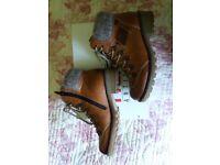 Rieker Z0444-24 brown boots size 3 1/2